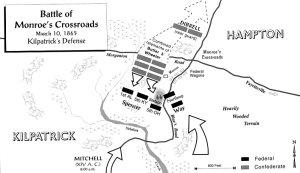 Battle of Monroe's Crossroads, second phase
