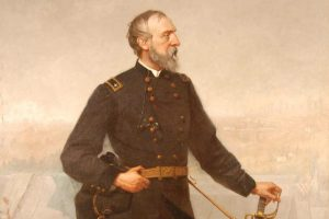 An 1876 portrait of Maj. Gen. George Gordon Meade. Many of Meade's possessions are in this collection