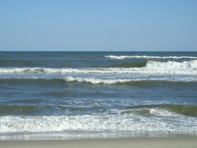 Waves off Ocracoke